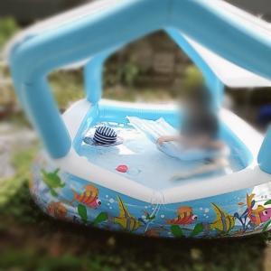 お庭プールが最高に気持ちいい!