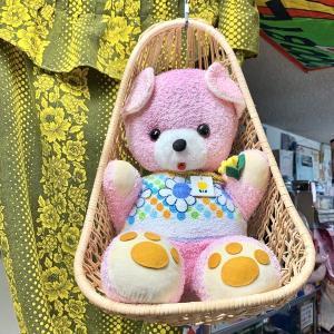 【絶対可愛い ピンクの熊さんとカゴのセット】