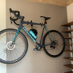 先日の自転車収納
