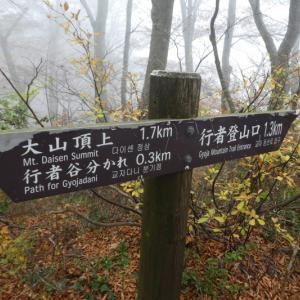 日本百名山 紅葉見ごろ 大山 (1,709.4M)  下山 編 NO2