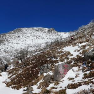 日本百名山 雪の伊吹山 (1,377.3M)    登頂 編 NO3