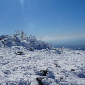 日本百名山 雪の伊吹山 (1,377.3M) 下山 編