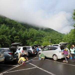 雨が上がった 蝶ケ岳 (2,677M)   登頂 編  part 1