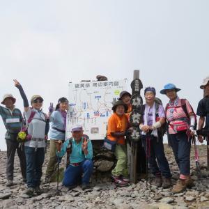 久しぶりに登った 硫黄岳 (2,760M)   登頂 編