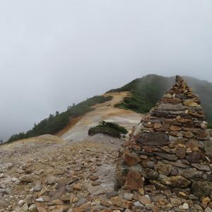久しぶりに登った   硫黄岳 (2,760M)    下山 編