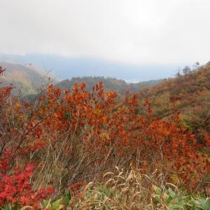 紅葉見ごろ 三方岩岳 (1,736M)    登頂 編