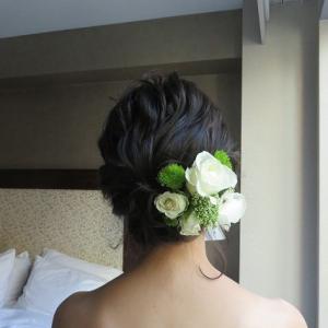 生花の髪飾り