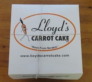 美味しいLloyd's のキャロットケーキ^^