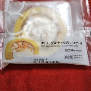 ローソン ウチカフェ メープルナッツのロールケーキ