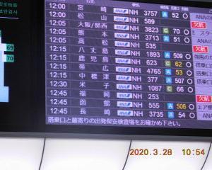 #4207  羽田空港はガラガラ Mar. 28, 2020