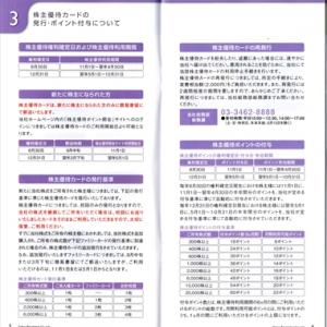東急レクリエーションさんの株主優待と大庄さんの優待券使用