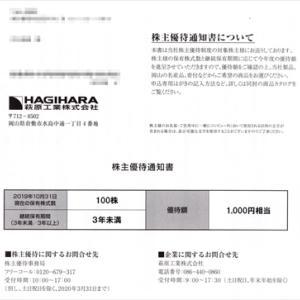 萩原工業さんとオリバーさんの株主優待