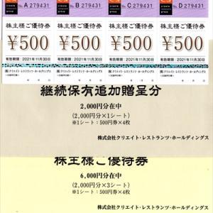クリエイト・レストランツ・HD、SFPHD、大庄さんの株主優待
