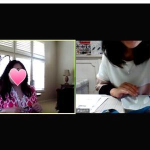 アメリカの生徒さんとオンラインレッスンと復習のリボントレーのお写真いただきました!