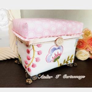 【オンラインレッスン募集】ミニ茶箱にお好きな生地を貼ってかわいいお茶箱つくりませんか?