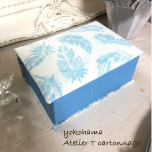 【レッスンレポ】オルゴールのための箱を仕立てたい!簡単ミニブック型の箱を作られました。
