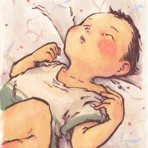 「眠る子」