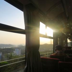 お隣の岡山県が想定外に楽し過ぎた件⑧夕景鑑賞バス、浜焼き、帰宅