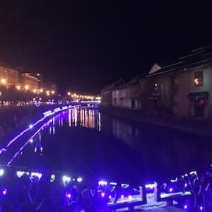 冬のロングランイベント「小樽ゆき物語」(2019〜2020)が11/1より始まってます〜青の運河・浮き玉ツリー・ワイングラスタワーの様子