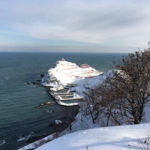 冬の祝津パノラマ展望台からの眺め【冬のちょっとした風景】