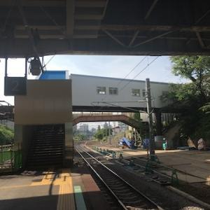 JR南小樽駅の新しい跨線橋が7月11日から使用開始になっています
