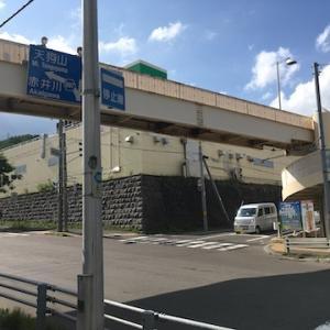 富岡歩道橋が撤去工事のために9月1日から通行できなくなります