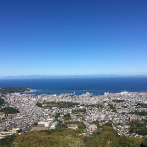 9月連休の晴れた日の天狗山山頂から
