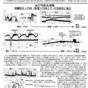 ◎続報・大地震は7月29日に!