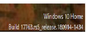 デスクトップの右下にWindowsのバージョンを表示してみた。