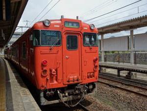 城崎温泉駅ホーム