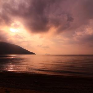 琵琶湖の朝焼け 滋賀旅行