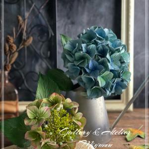 スキルアップレッスンで秋色紫陽花〜クレイフラワー