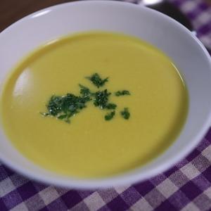 スープ食べた? かぼちゃの豆乳ポタージュ