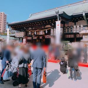 【秋晴れの七五三】出張おわりに大阪天満宮に訪れて