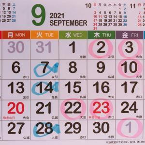 【9月のスケジュールが決まりました】ご予約を受付中です