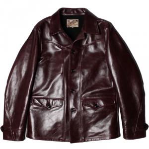 Y'2 LEATHER ANILINE HORSE SPORTS JACKET CHERRY