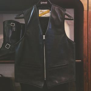 Schott 2015秋冬新作 MC LEATHER VEST
