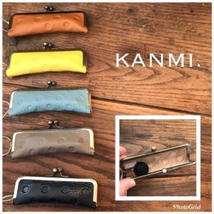 KANMI (カンミ )より、ドットの印鑑ケースが入荷◎三文判が2本くらい入り朱肉付き!進学祝いや新社会人のプチギフトにもオススメです◎