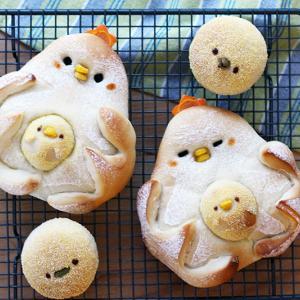 【コケコッコーパン】と名付けた【にわとりパン】♪