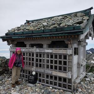 誕生日登山2日遅れで北アルプス立山(雄山)3003m登頂