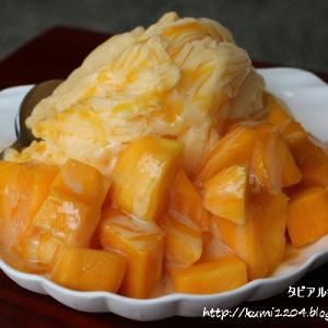 陳Q黑砂糖剉冰 華榮店 ヒラヒラの口溶けが良いマンゴーかき氷 @ 台湾・高雄