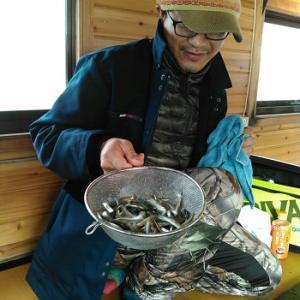 風来坊の桧原湖ワカサギ釣り!美味しく食べて下さいね&週末空き状況♪