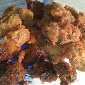 牡蠣と椎茸のパン粉揚げ