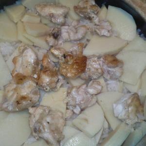 鶏肉とタケノコのだし炊きご飯