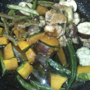 夏野菜の煮締め