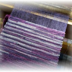 ◆半幅帯を 織り始めました……◆