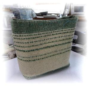 ◆ 麻バッグを作っています……◆