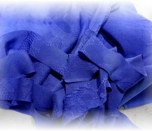 ◆ 青色ジャケットを縫い始めました……◆