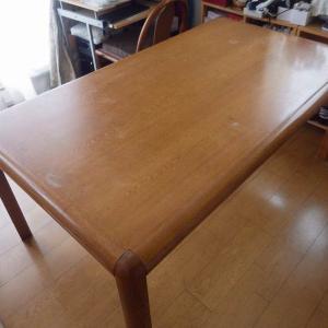 ダイニングテーブルの再利用