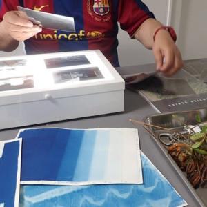 古典印画技法ブループリント講座・サイアノタイプ / 2日目 プリント実習&デジタルネガフィルム作成